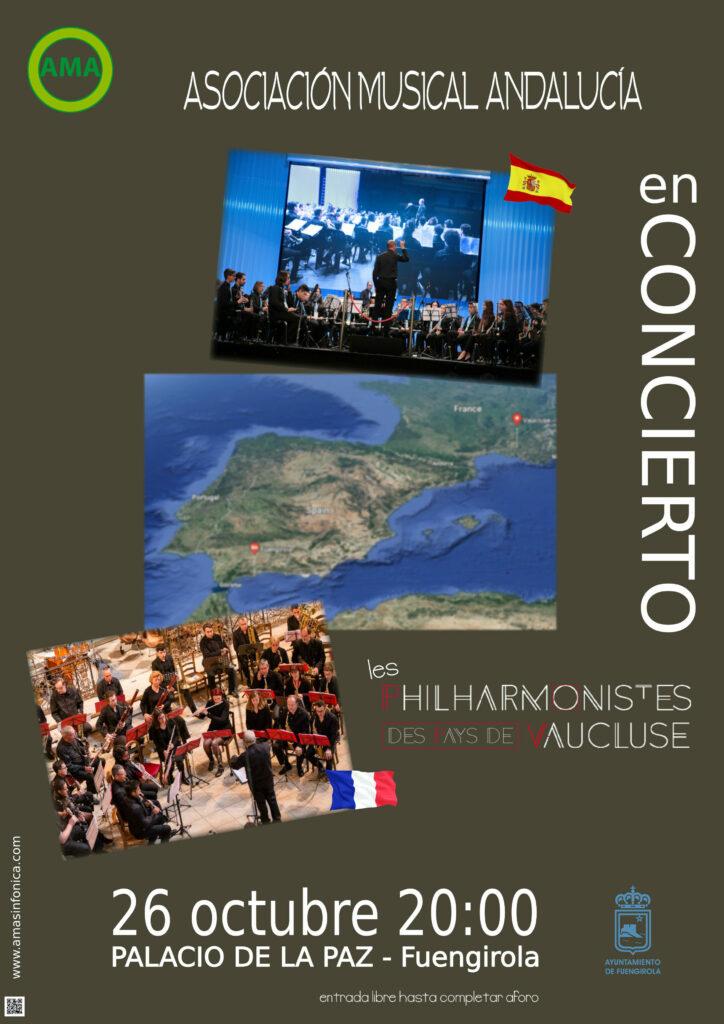 Cartel Concierto con Les Philarmonistes des Pays de Vaucluse